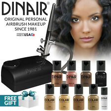 Dinair Airbrush Foundation Makeup Kit Pro | 10pc Make-Up Set | Tan Shades