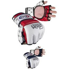 FAIRTEX AMATEUR COMPETITION GLOVES in Genuine Leather, Thumb Support. Free Ship