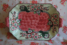 """Lovely Maling Rose Pink """"May Bloom"""" Art Deco Pottery Dish c. 1935    #505"""