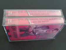 The Immortal BENNY GOODMAN The Big Bands & Small Groups 2 Cassette SEALED Set