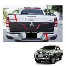 2015 16 17 Rear Tailgate Outer Lid Cover Black Red 1Pc On Mitsubishi L200 Triton