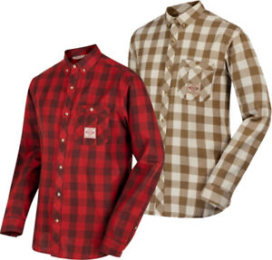 Regatta Mens Loman Casual Summer Cotton Long Sleeve Check Shirt RRP £35