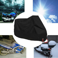 XXL Waterproof Motorcycle Dust Rain Cover 245*105*125 cm Outdoor Black Cover