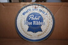 Vintage Pabst Blue Ribbon Beer Bar Tavern Metal Serving Tray Gas Oil Sign