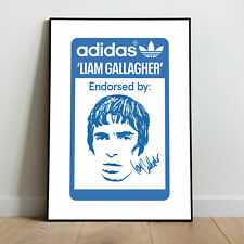 Adidas Special Endorsed by Liam Gallagher printed poster