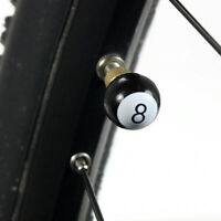 4x Billiard Ventilkappen Schwarze Acht Fahrrad Auto Schwarz Kappe Reifen Ventil