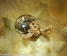 Hawaiian 2Tone 925 Silver Rhodium Rose Gold Baby Turtle Egg Hatchling Pendant #2