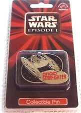 "Applause Droid Starfighter 1 3/4"" Metal Collector's Pin from Star Wars Episode 1"
