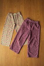 Girls 2 Prs Pajama Lounge Pants Carters Floral Joe Boxer Purple Leopard 5 5T