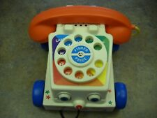 FISHER PRICE CHATTER Rotary Walk behind Pull Phone Telephone 2005