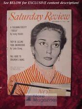 SATURDAY REVIEW November 13 1954 MARIA CALLAS LYDIA STRONG LYNN WHITE