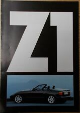 Plakat - Prospekt BMW Z1 im Format   DIN A 1   1/89
