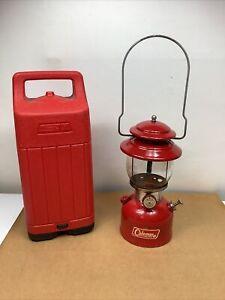COLEMAN 200A Camping Lantern Dated 12/1965 Pyrex Globe