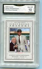 2013 Giannis Antetokounmpo First Round Phenoms Draft Rookie Gem Mint 10