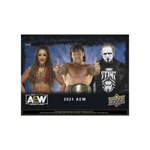 2021 Upper deck AEW Wrestling Trading Cards Sealed Hobby Box preorder