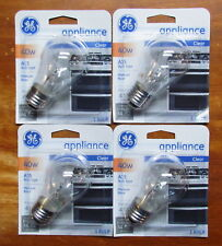 4 pk GE 40 Watt Appliance Light Bulb Oven Refrigerator Lava Lamp Medium Base A15