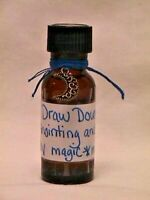 DRAW DOWN THE MOON Home Made ANOINTING + RITUAL OIL wicca wiccan 1/2 oz w/charm!