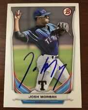 JOSH MORGAN 2014 BOWMAN TOPPS AUTOGRAPHED SIGNED AUTO BASEBALL CARD DP90 RANGERS