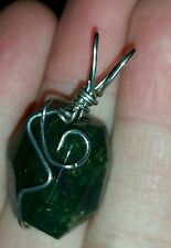 Hand Crafted Bloodstone Bead Pendant