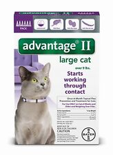 Advantage II for Cats over 9 lbs - 6 Pack - US EPA approved FREE Shipping