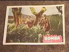 BOMBA JUNGLE BOY 1949 LOBBY CARD #2 JUNGLE AFRICA JOHNNY SHEFFIELD NATIVE