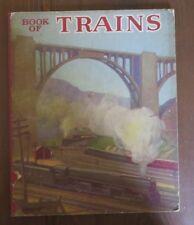 Linenette Vintage Book of Trains 1947 Sam'l Gabriel  GRIF TELLER Oil Paintings