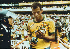 Carlos ALBERTO SIGNED Autograph 12x8 Photo AFTAL COA World Cup Winner BRAZIL