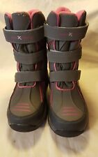 ZeroXposur Snow Boots Thermolite Insoles Leather/Textile Pink/Gray Size 4