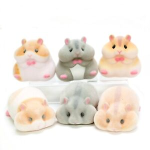 Japanese Blind Box White Brwn Hamster Sofubi Soft Vinyl Figure 1 Random Toy