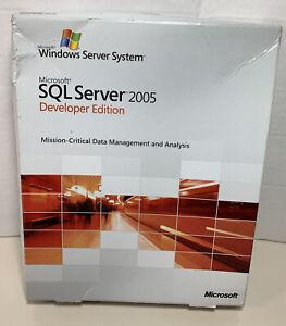 MICROSOFT SQL SERVER 2005 DEVELOPER EDITION Brand New Sealed