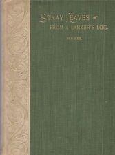 """1897 ORIGINAL """"Stray Leaves..Larker's Log' New Hampshire Massachusetts FARM POET"""