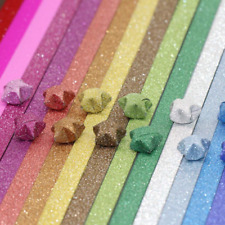 Origami Stars Papers Package DIY Paper, 360 Sheets - 18 Colors (Glitter Stars)
