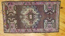 """Beautiful Vintage 1950-1960s Wool Pile Natural Dye Oushak  Rug1'7""""x2'8"""""""