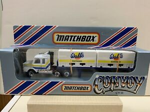 """Matchbox Convoy CY-18 Scania Double Container Truck """"WALL'S"""" Box Never Opened"""