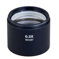 New 0.3X Auxiliary Objective Lens D48mm for Stereo Microscope