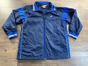 Nike Youth (14-16) Large Blue Full Zip Wind Breaker Track Jacket