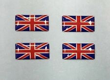 4 X Miniature Union Jack Drapeau Dôme Gel Autocollants rouge, blanc & bleu brillant