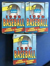 1990 Fleer Boxes, 36 Packs per Box Factory Sealed MLB Baseball Cards Lot of 3