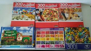 (Lot of 6)  New Puzzlebug and Cardinal 300 Piece and Puzzlebug 500 Piece Puzzles
