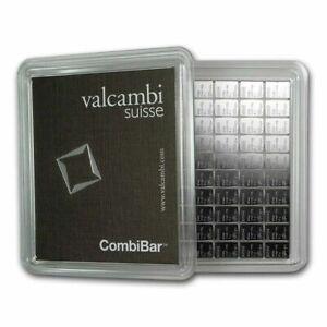 100 Gram Silver Valcambi CombiBar | 100×1 Gram Silver Bars | (sealed in Assay)