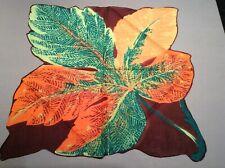 Vintage novelty leaf hankie in fall colors.