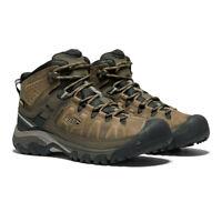 Keen Mens Targhee III Mid Waterproof Walking Boots - Brown Green Sports Outdoors
