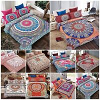 Luxury Boho Chic Bohemian Mandala Bedding Set Duvet Cover Double King Pillowcase