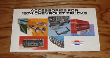 1974 Chevrolet Truck Accessories Catalog Sales Brochure 74 Chevy