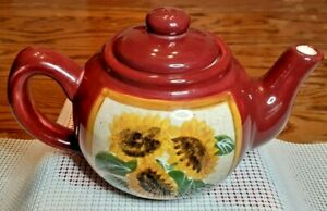 Harvest Sun Teapot with Sunflowers, Giftcraft 2002