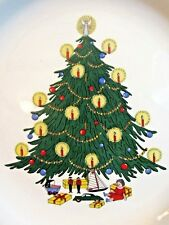 "10"" CHRISTMAS TREE LOADED W/ CANDLES SERVING PLATE JAMESTOWN CHINA IRONSTONE"