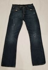 Nudie Jeans Mens Regular Alf Button Fly Size 33 x 34  NJ2178 Distressed