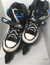 Inline Skates Crane Kids Adjustable Size 4.5-7.5 Preowned Black Blue