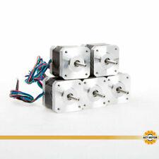 DE Free 5PCS Nema17 Schrittmotor 17HS3404 0.4A 34mm 12V Bipolar 0.28Nm Φ 5mm