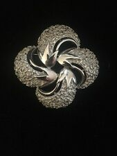 Signed 4827 Silver Tone Maltese Cross Brooch Boucher ??